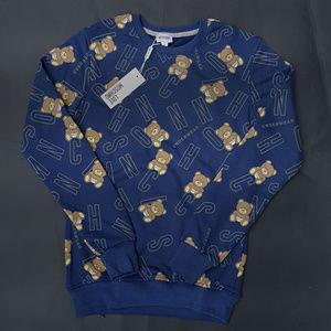 sweatshirt moschino blue